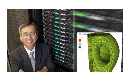 Dr. C.S. Chang and turbulence at the edge of a fusion plasma.